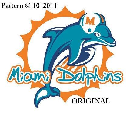 Miami Dolphins #1 Cross Stitch Pattern Football ~ETP~