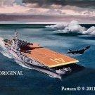Aircraft Carrier Cross Stitch Pattern Military ~ETP~