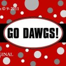 Go Dawgs~Georgia Bulldogs Cross Stitch Pattern Football ~ETP~