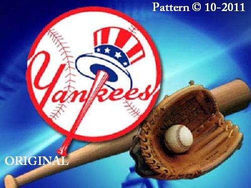 New York Yankees #3 Cross Stitch Pattern Baseball ~ETP~
