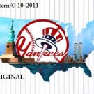 New York Yankees #4 Cross Stitch Pattern Baseball ~ETP~