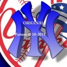 New York Yankees #5 Cross Stitch Pattern Baseball ~ETP~