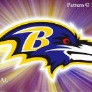 Baltimore Ravens #2 Cross Stitch Pattern NFL Football ~ETP~