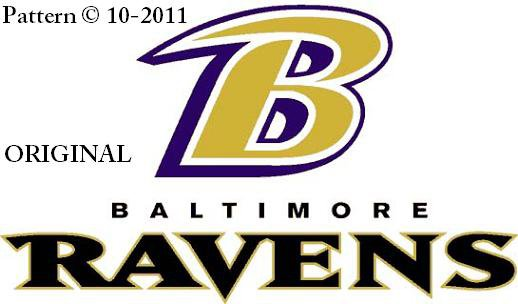 Baltimore Ravens #5 Cross Stitch Pattern NFL Football ~ETP~