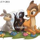 Bambi, Flower & Thumper Cross Stitch Pattern Deer, Rabbit, Skunk Disney  ~ETP~