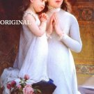 2 Girls Praying By Emile Munier Cross Stitch Pattern ~ETP~