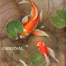 2 Koi Cross Stitch Pattern Oriental Fish ~ETP~
