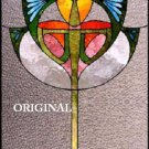 Art Deco Goblet Cross Stitch Pattern Stained Glass Look ~ETP~