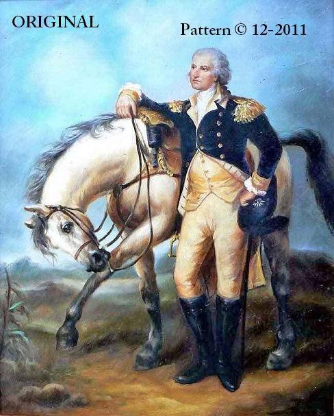 General George Washington Amp Horse Cross Stitch Pattern
