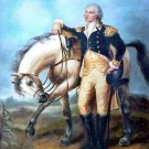 General George Washington & Horse Cross Stitch Pattern Patriotic America ~ETP~