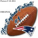 New England Patriots Football Cross Stitch Pattern NFL ~ETP~