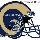 St Louis Rams Helmet #2 Cross Stitch Pattern NFL Football ~ETP~