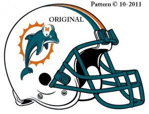 Miami Dolphins #4 Cross Stitch Pattern Football NFL ~ETP~