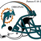 Miami Dolphins Helmet #4 Cross Stitch Pattern Football NFL ~ETP~