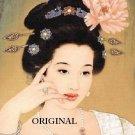Geisha With Peony Cross Stitch Pattern Oriental ~ETP~