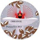 Bird Bath Cardinal Cross Stitch Pattern Charles Harper  ~ETP~
