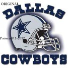 Dallas Cowboys Helmet #1 Cross Stitch Pattern NFL Football