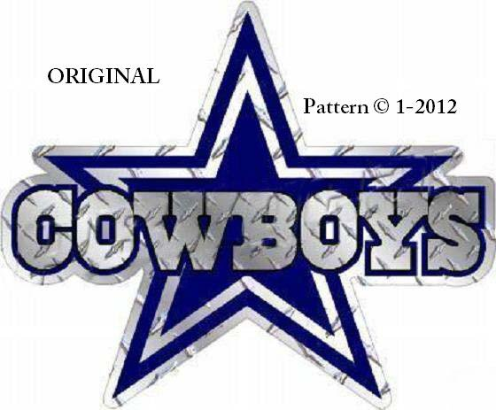 Dallas Cowboys Logo Cross Stitch Pattern NFL Football