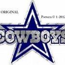 Dallas Cowboys Logo Cross Stitch Pattern NFL Football