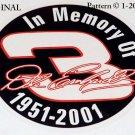 In Memory Of Dale Earnhardt Sr. ~ 1951 ~ 2001 Cross Stitch Pattern NASCAR
