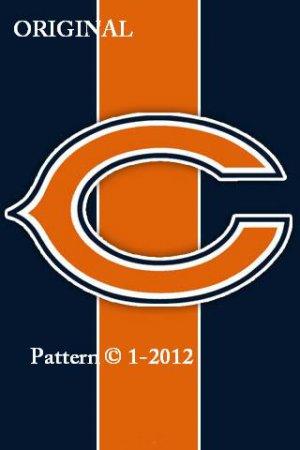 Chicago Bears #4 Cross Stitch Pattern NFL Football