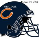 Chicago Bears Helmet Cross Stitch Pattern NFL Football
