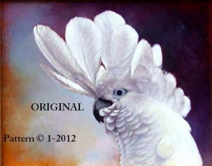 Umbrella Cockatoo #1 Cross Stitch Pattern Parrots Birds