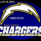 San Diego Chargers #2 Cross Stitch Pattern NFL Football