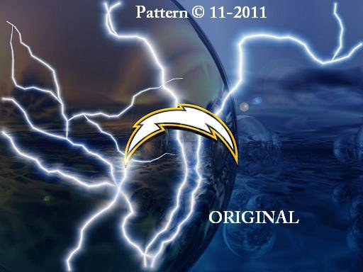 San Diego Chargers #5 Cross Stitch Pattern NFL Football