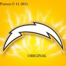 San Diego Chargers #6 Cross Stitch Pattern NFL Football