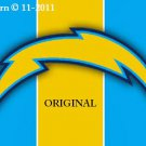 San Diego Chargers #7 Cross Stitch Pattern NFL Football
