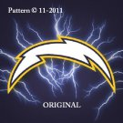 San Diego Chargers #9 Cross Stitch Pattern NFL Football