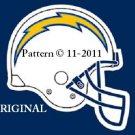 San Diego Chargers Helmet #2 Cross Stitch Pattern MFL Football