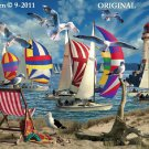 Seagull Regatta Cross Stitch Pattern Sea Shore Birds
