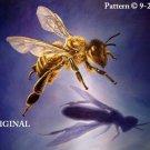 Honeybee & Shadow Cross Stitch Pattern Insects ~ETP~