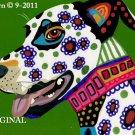 Pop Art Flower Dog Cross Stitch Pattern ~ETP~