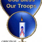 God Bless Our Troops Cross Stitch Pattern USA Military ~ETP~