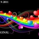 Hearts & Rainbows Cross Stitch Pattern ~ETP~