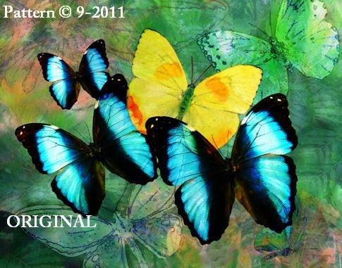Butterfly Fantasy Cross Stitch Pattern ~ETP~