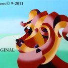 Curly Art Dog Cross Stitch Pattern Modern Art ~ETP~