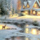 Deer Creek Cottage Cross Stitch Pattern Kinkade ETP