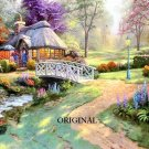 Friendship Cottage Cross Stitch Pattern Kinkade ETP