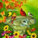 Birdbath Convention Cross Stitch Pattern Birds ETP