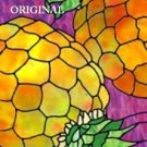 2 Pineapples Cross Stitch Pattern Stained Glass Look ETP