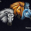 Black Velvet Horses Cross Stitch Pattern ETP
