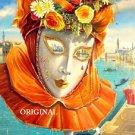 Venetian Mask Cross Stitch Pattern Venice Fantasy ETP