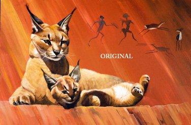 Mother Lynx & Baby Cross Stitch Pattern Cats ETP