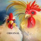 Chicken Pair Cross Stitch Pattern Birds ETP