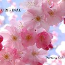 Cherry Blossoms Cross Stitch Pattern Oriental Flowers ETP
