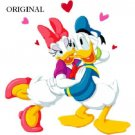 Donald & Daisy Duck In Love Cross Stitch Pattern Disney ETP
